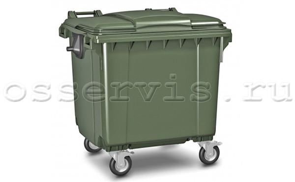 Евроконтейнер для мусора пластиковый 1,1 м3