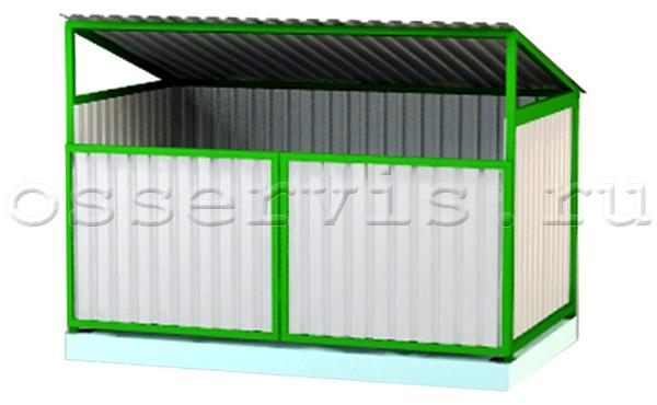 Контейнерная площадка для двух контейнеров