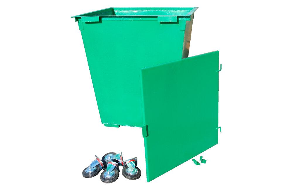 Крышка на мусорный контейнер 075 м3