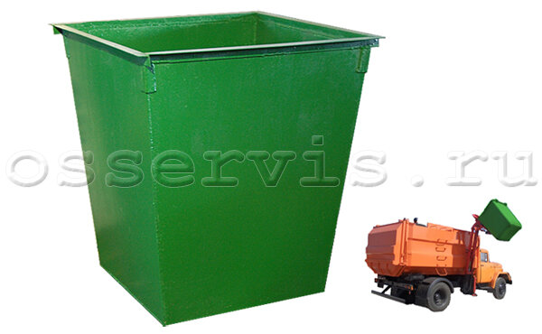 Контейнеры для мусора 0,75 м3 металл 2 мм