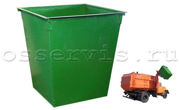 Контейнеры для мусора 0,75 м3 металл 3 мм