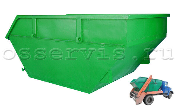 Контейнер для мусора 8 м3 металл 3 мм