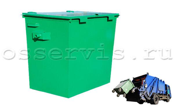 Мусорные контейнеры 0,8 м3 крышкой