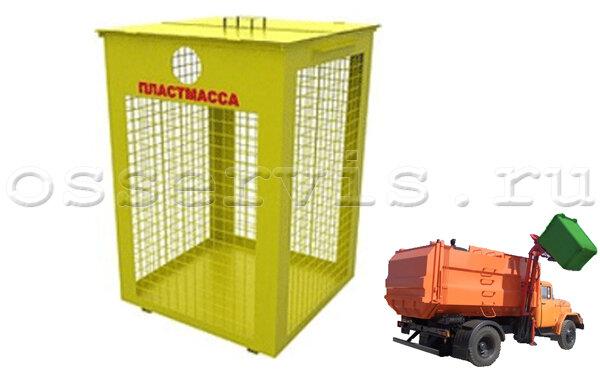 Контейнеры для раздельного сбора отходов 0,75 м3